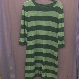 Lg mossimo Gray & black striped sweater dress